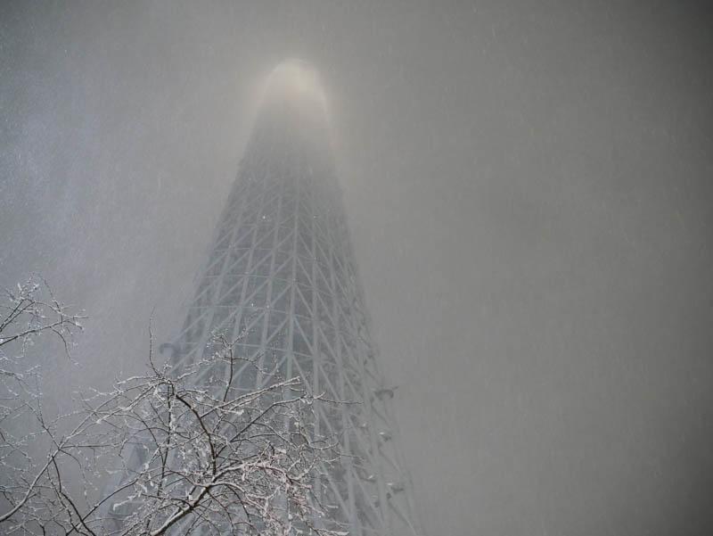 スカイツリーとソラマチと大雪と-32