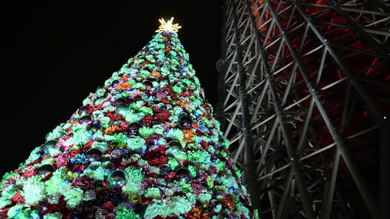 スカイツリーソラマチ クリスマスイルミネーション クリスマスツリー