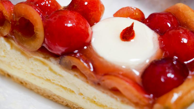 佐藤錦のキャンドルナイトケーキ
